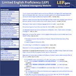 Limiated English Proficiency web page