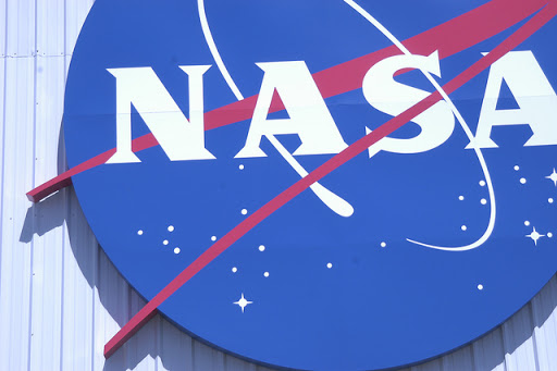 NASA logo on side of building